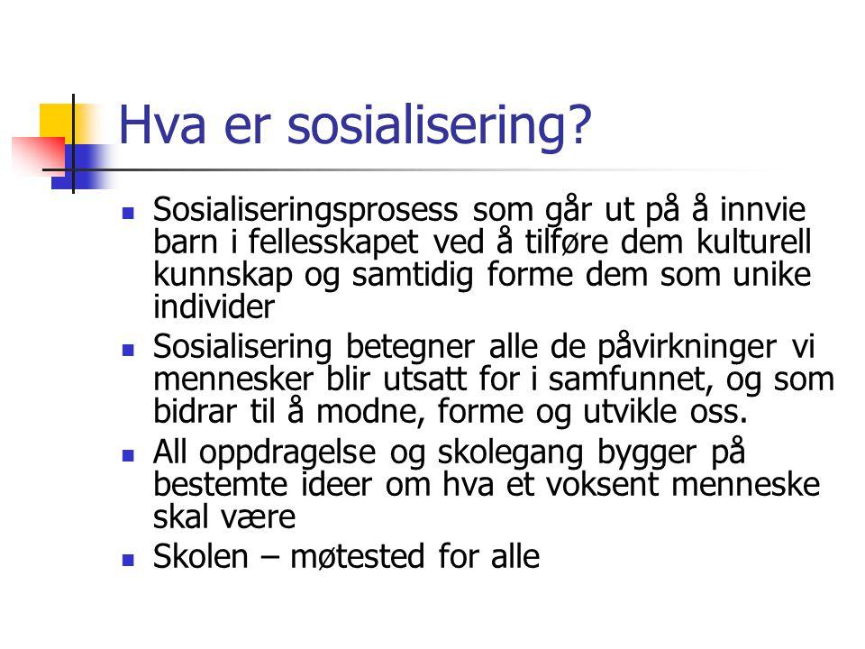 Hva er sosialisering