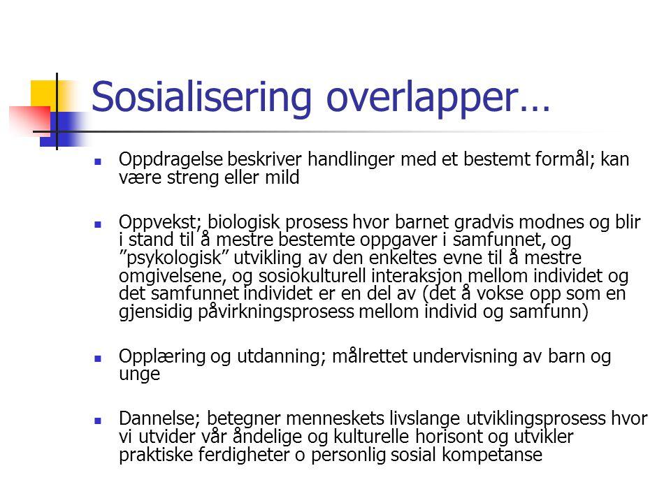 Sosialisering overlapper…