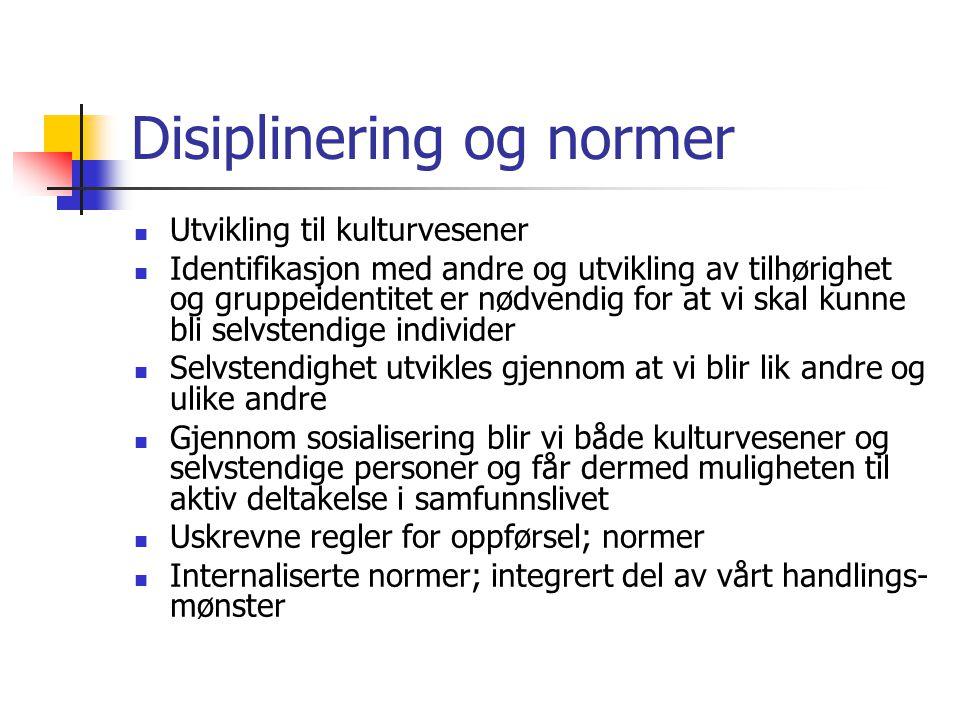 Disiplinering og normer