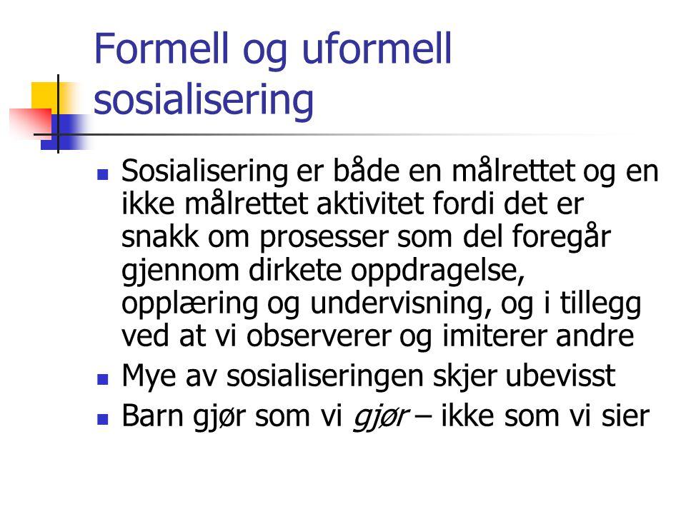 Formell og uformell sosialisering