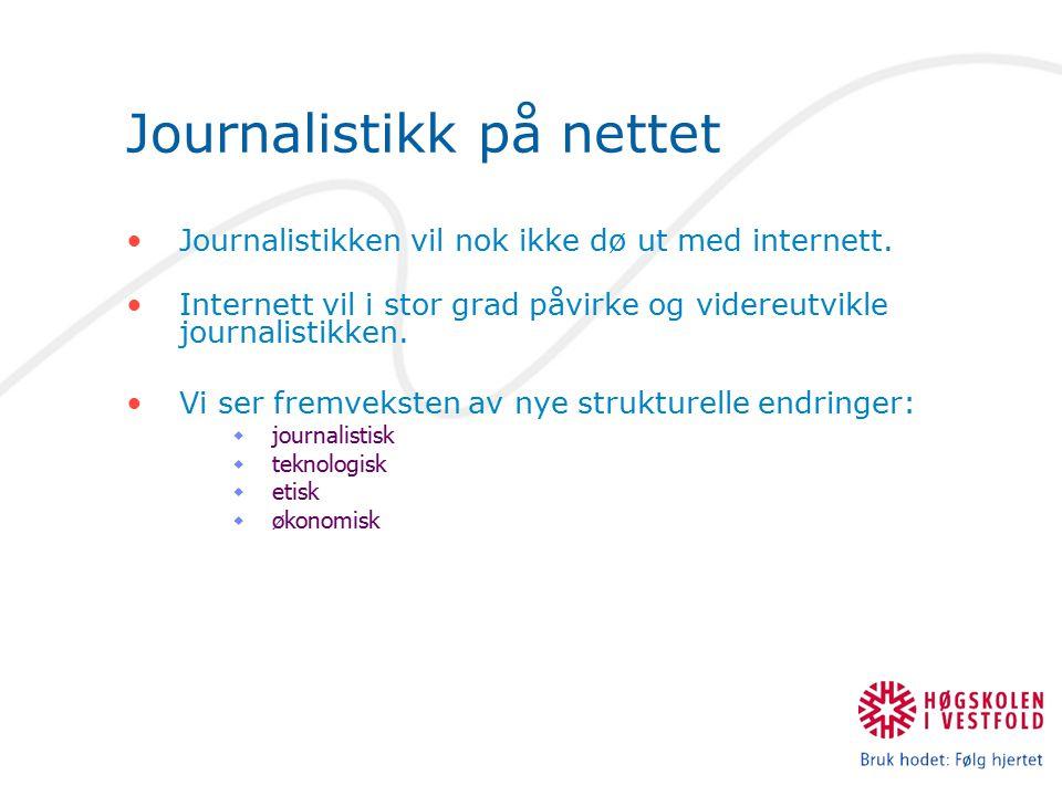 Journalistikk på nettet