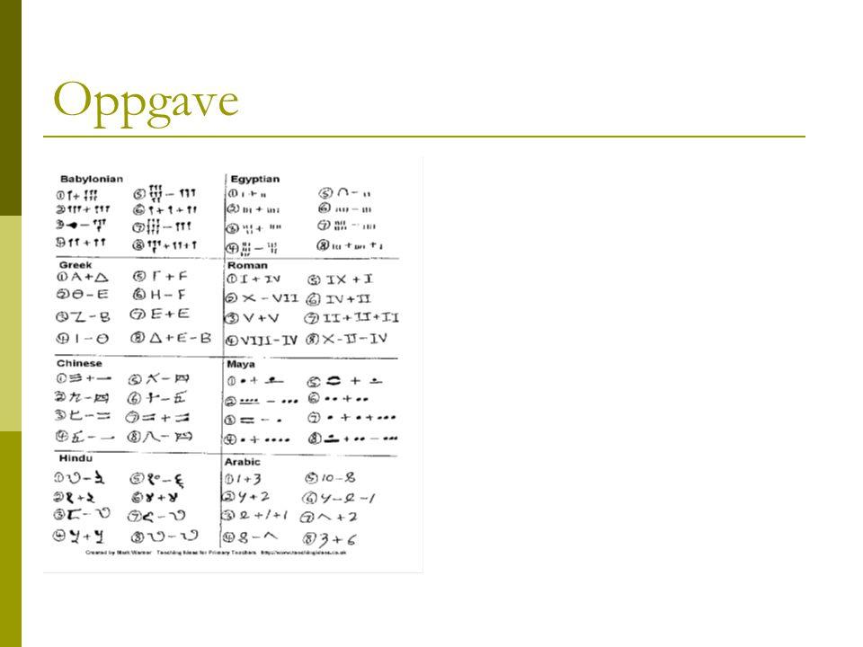 Oppgave Gå til tallet 1 på talllinja. Oppgaveark. 10-15 min. Rett for hverandre. Snakke litt om retting.