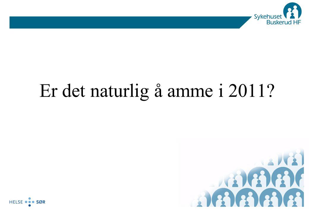 Er det naturlig å amme i 2011