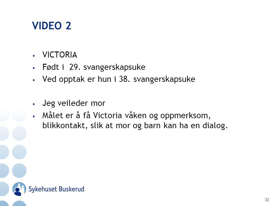 VIDEO 2 VICTORIA Født i 29. svangerskapsuke
