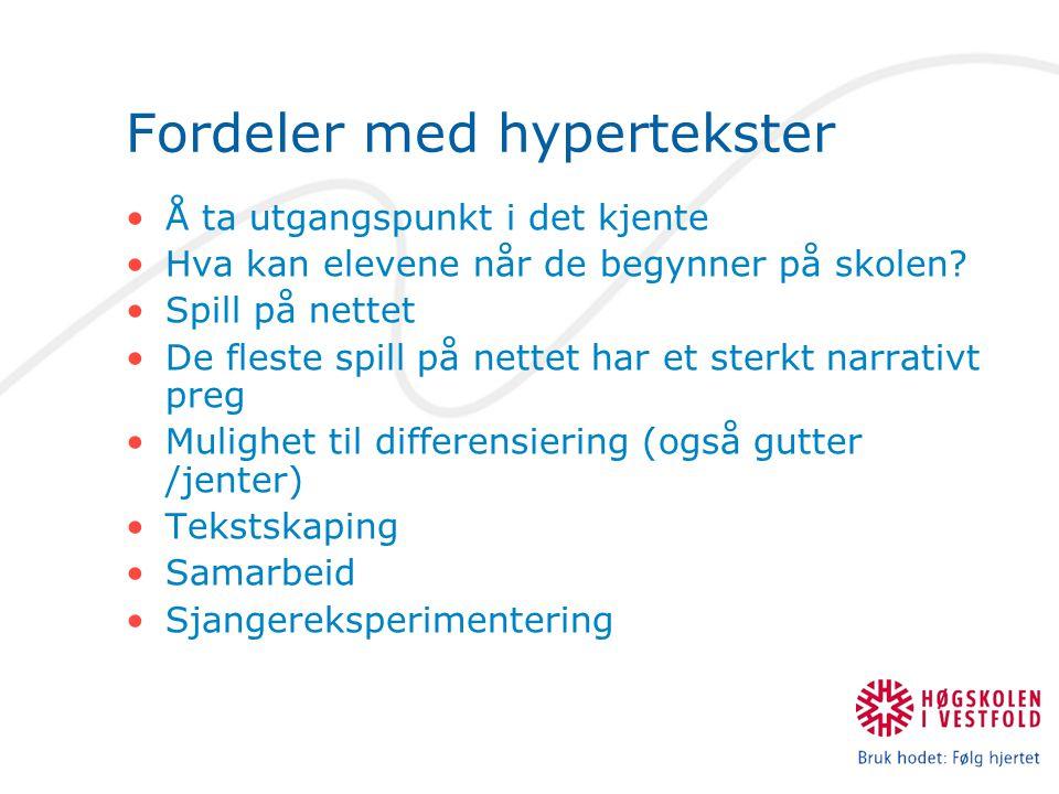 Fordeler med hypertekster