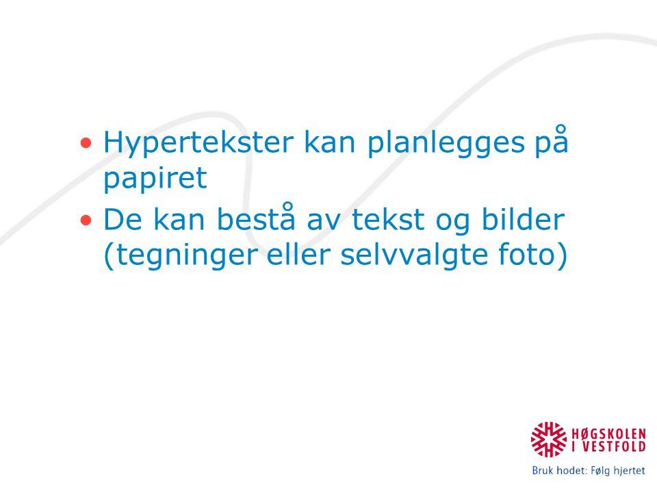 Hypertekster kan planlegges på papiret