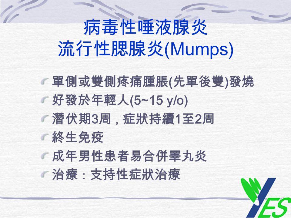 病毒性唾液腺炎 流行性腮腺炎(Mumps)