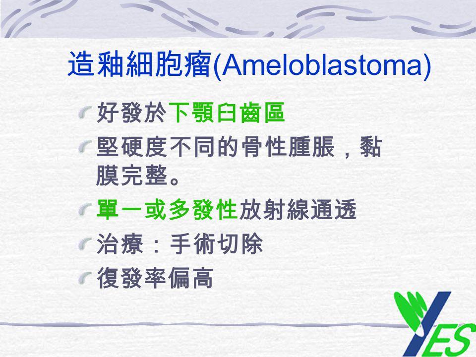 造釉細胞瘤(Ameloblastoma)