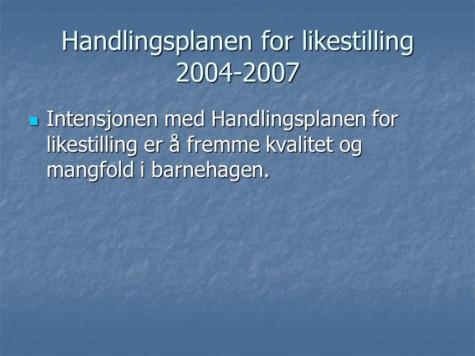 Handlingsplanen for likestilling 2004-2007