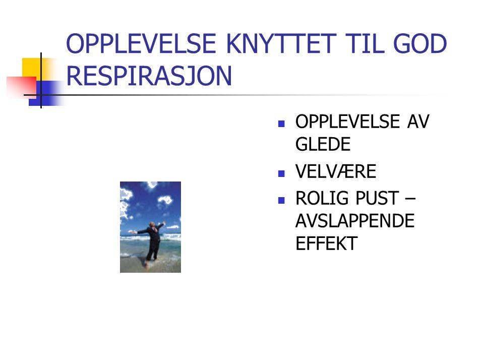 OPPLEVELSE KNYTTET TIL GOD RESPIRASJON