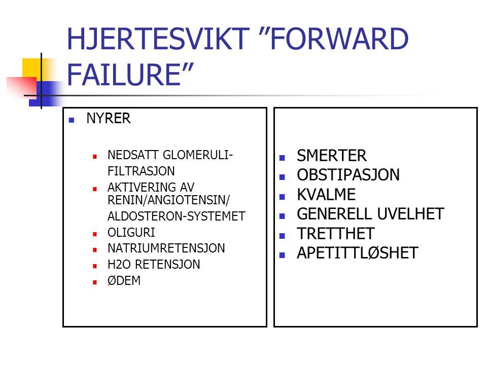 HJERTESVIKT FORWARD FAILURE