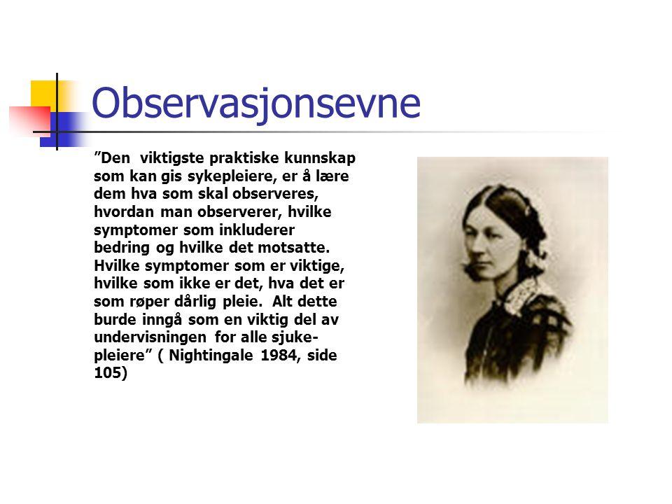 Observasjonsevne Den viktigste praktiske kunnskap