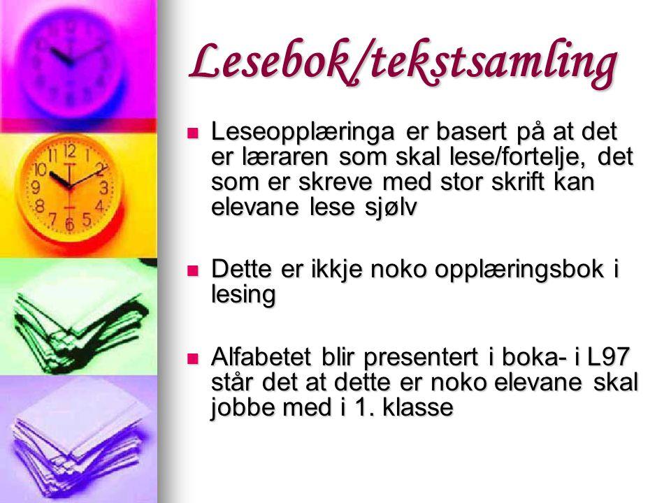 Lesebok/tekstsamling