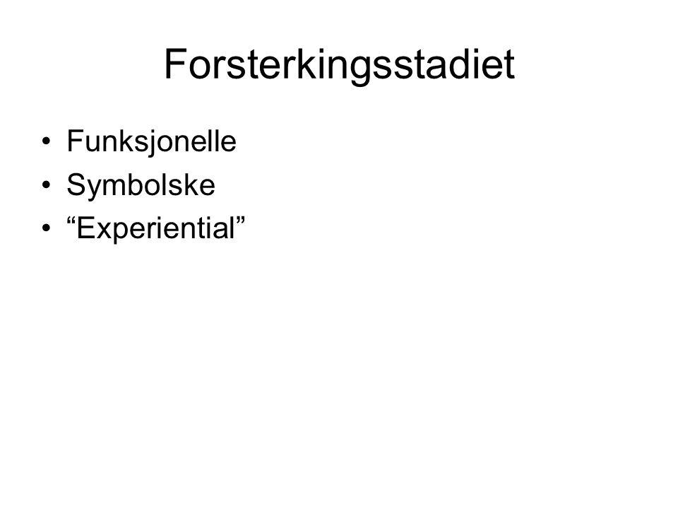 Forsterkingsstadiet Funksjonelle Symbolske Experiential
