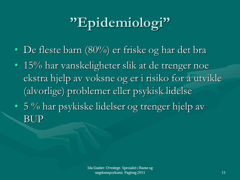 Epidemiologi De fleste barn (80%) er friske og har det bra