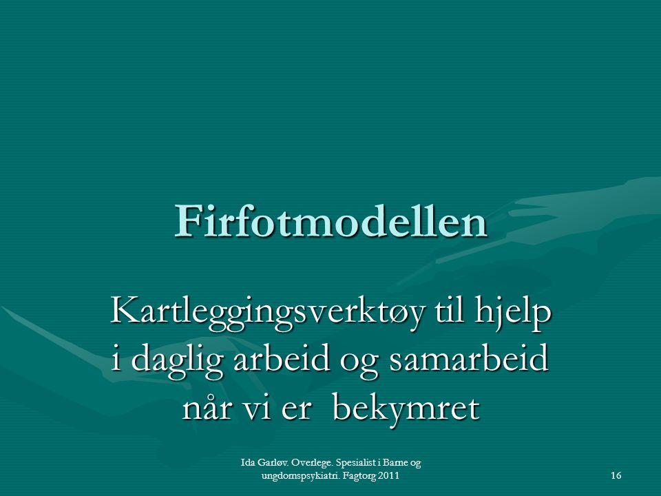 Firfotmodellen Kartleggingsverktøy til hjelp i daglig arbeid og samarbeid når vi er bekymret.
