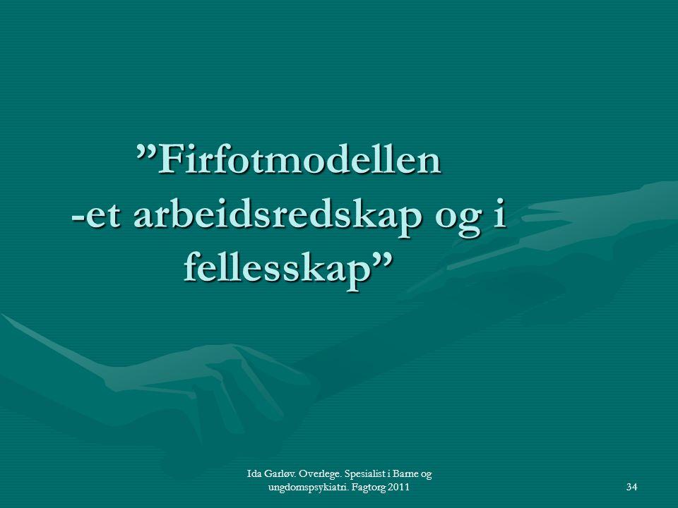 Firfotmodellen -et arbeidsredskap og i fellesskap
