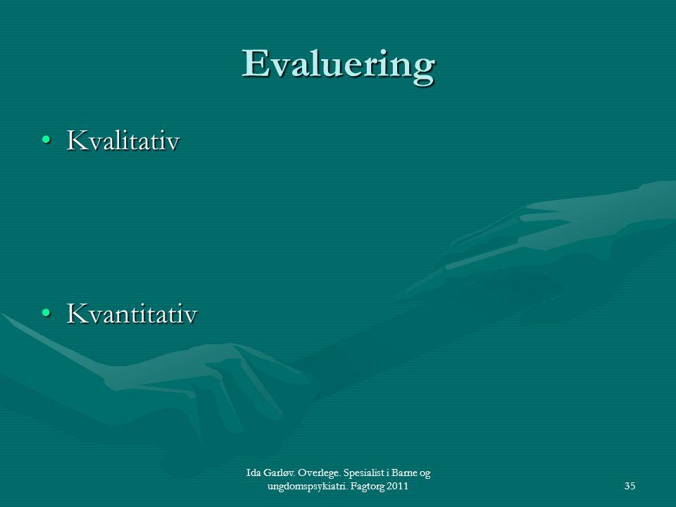 Evaluering Kvalitativ Kvantitativ