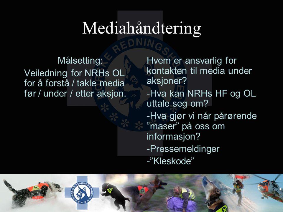 Mediahåndtering Målsetting: