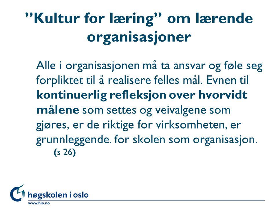 Kultur for læring om lærende organisasjoner