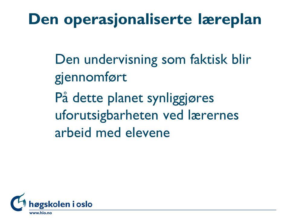 Den operasjonaliserte læreplan