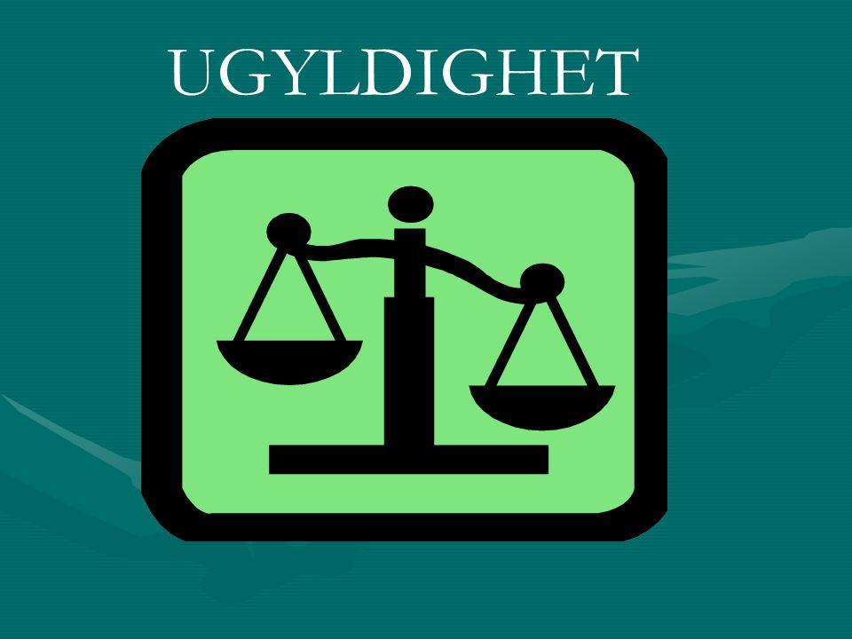 UGYLDIGHET