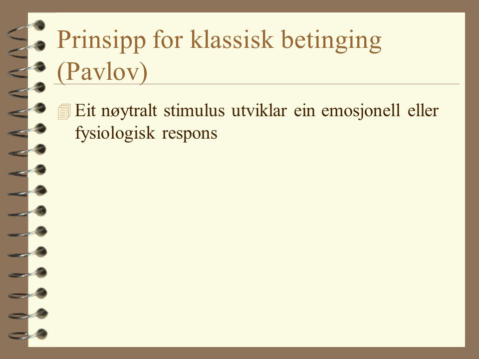 Prinsipp for klassisk betinging (Pavlov)