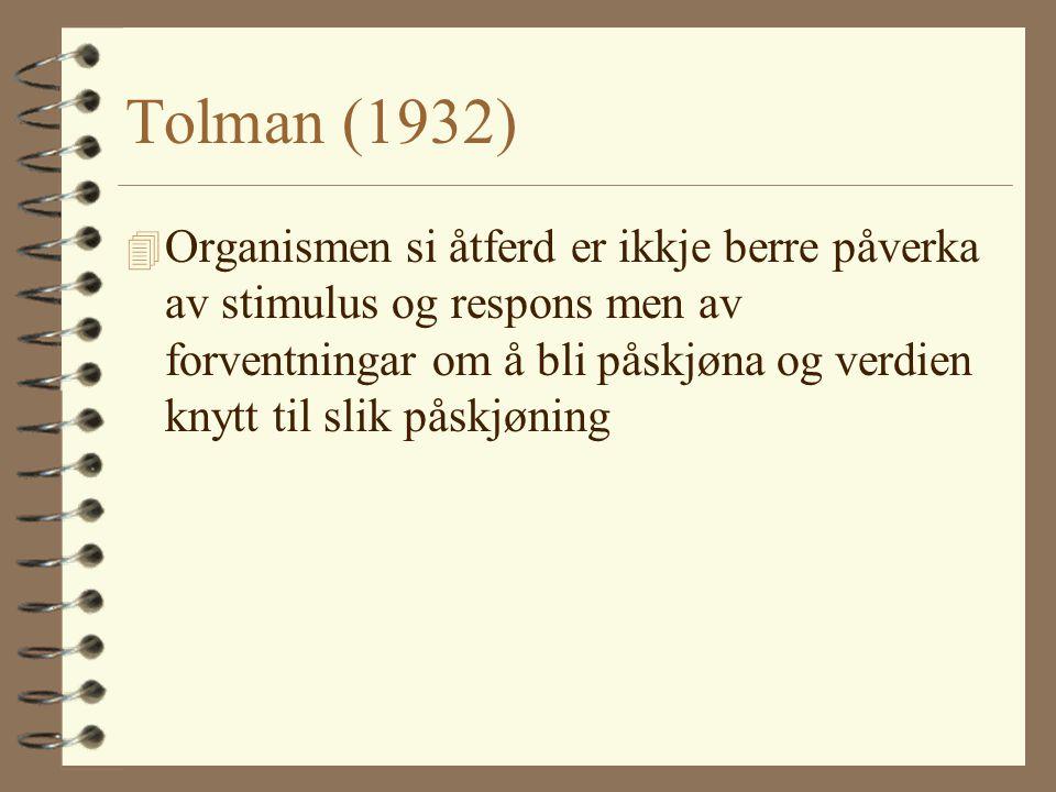 Tolman (1932)