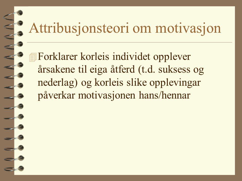 Attribusjonsteori om motivasjon
