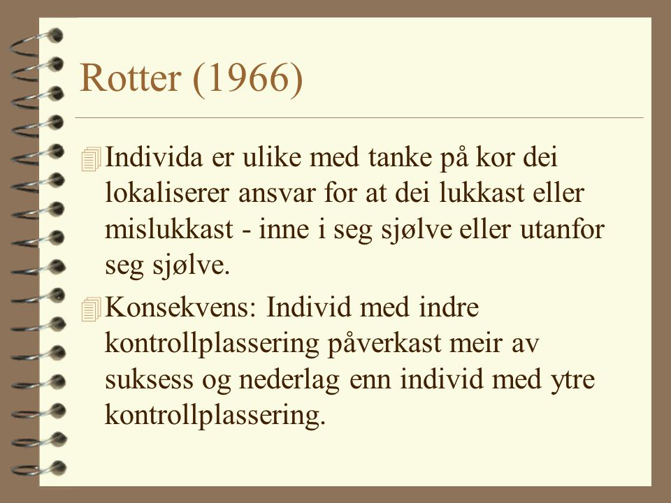 Rotter (1966)