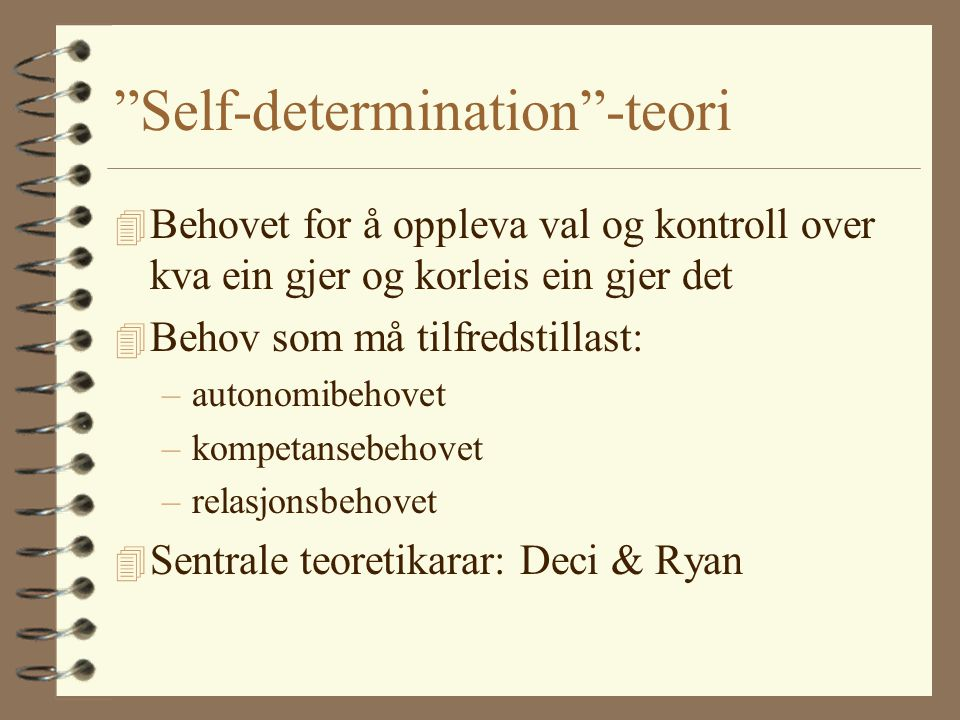 Self-determination -teori