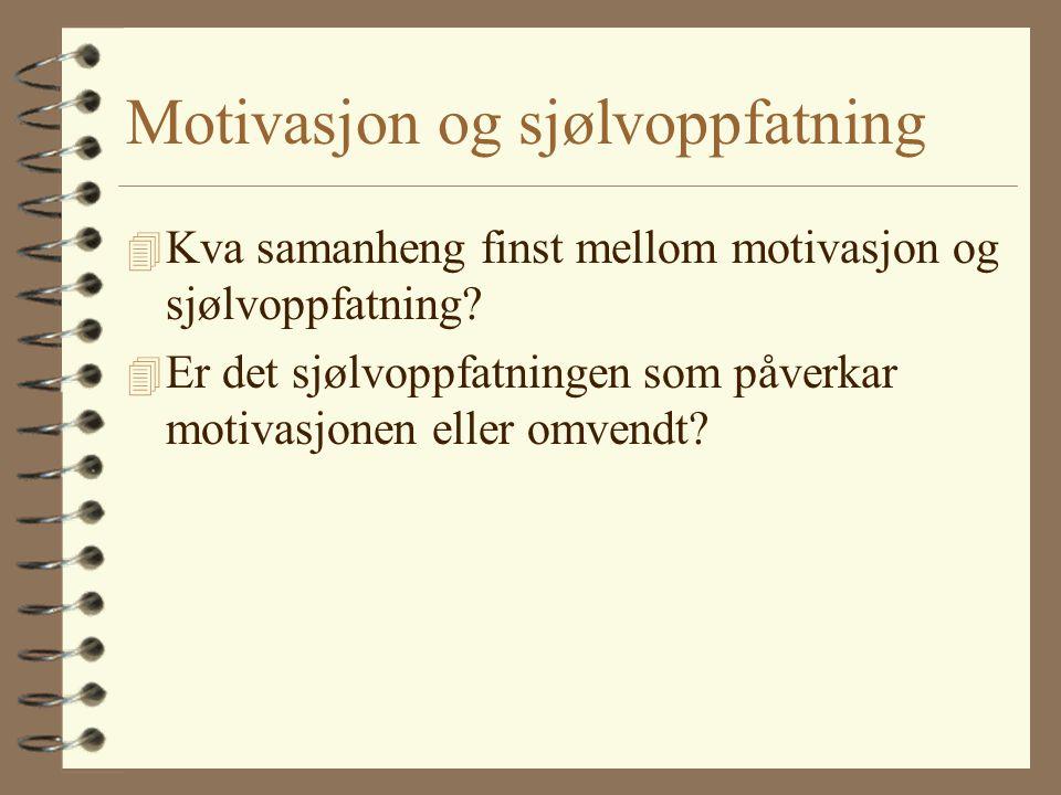 Motivasjon og sjølvoppfatning