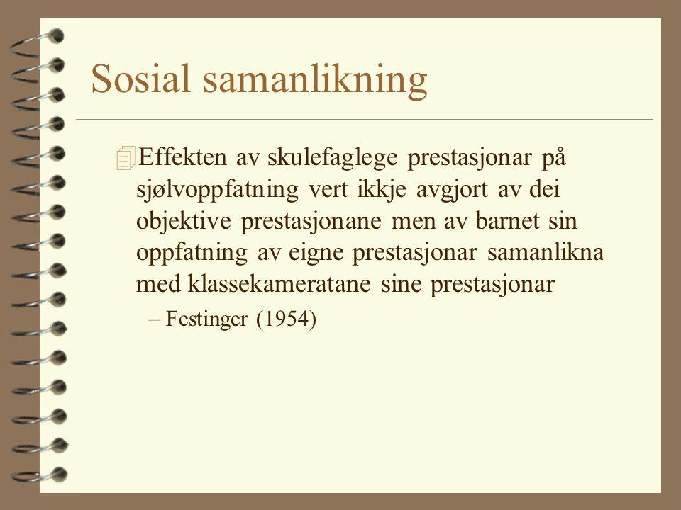 Sosial samanlikning