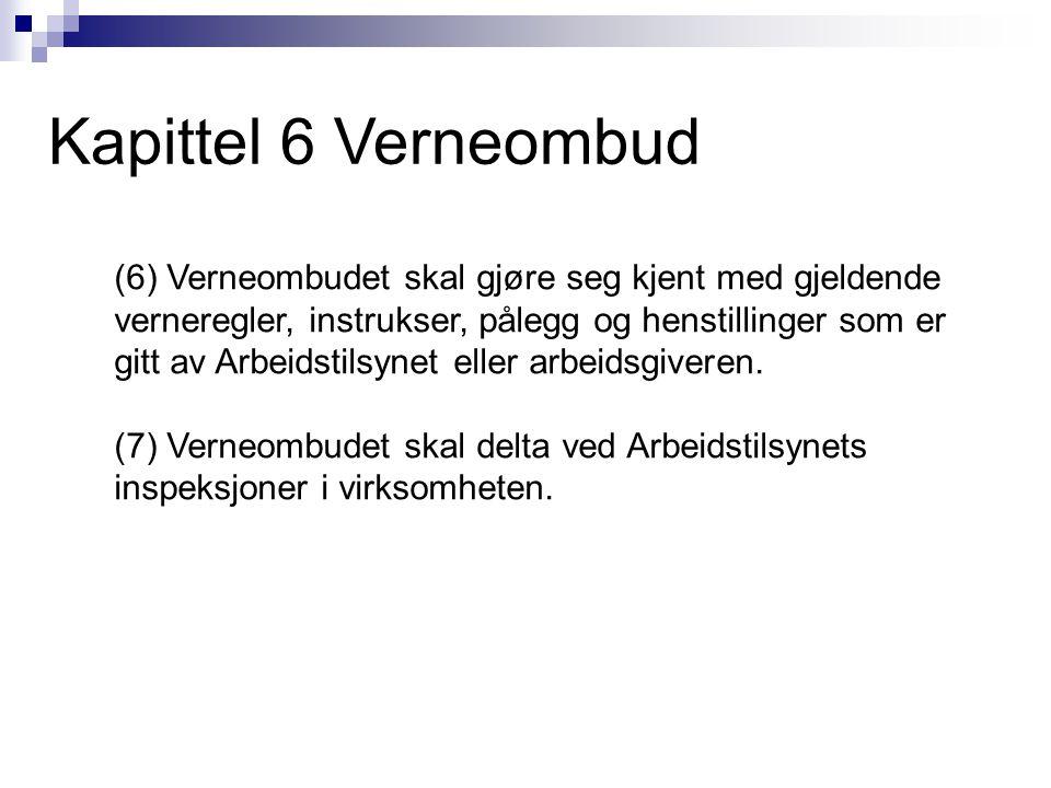 Kapittel 6 Verneombud