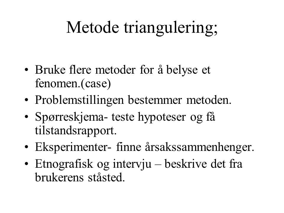 Metode triangulering;