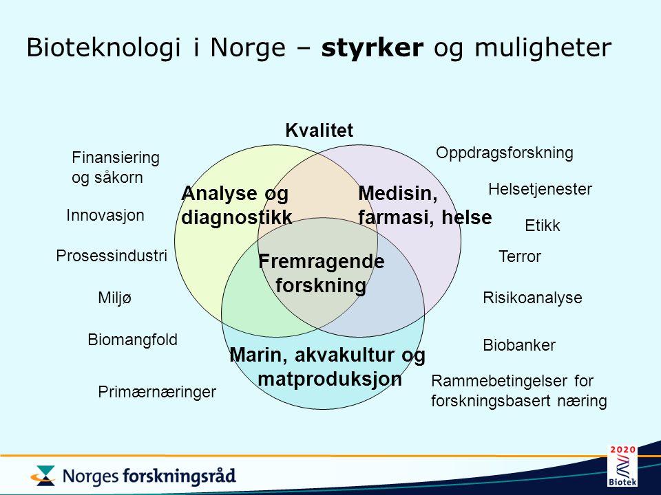 Bioteknologi i Norge – styrker og muligheter