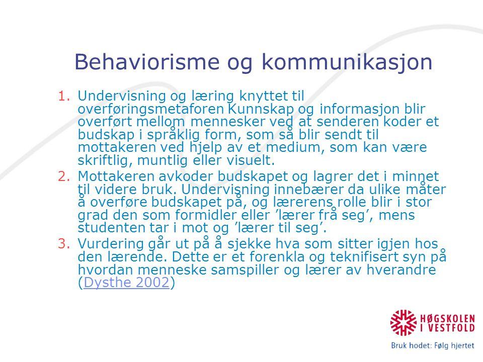 Behaviorisme og kommunikasjon