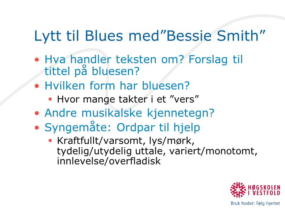 Lytt til Blues med Bessie Smith