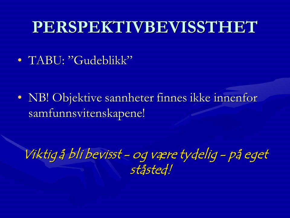 PERSPEKTIVBEVISSTHET