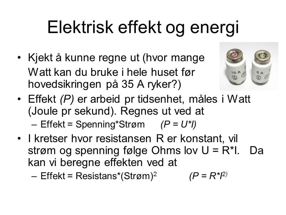 Elektrisk effekt og energi