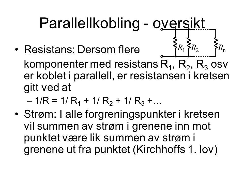 Parallellkobling - oversikt