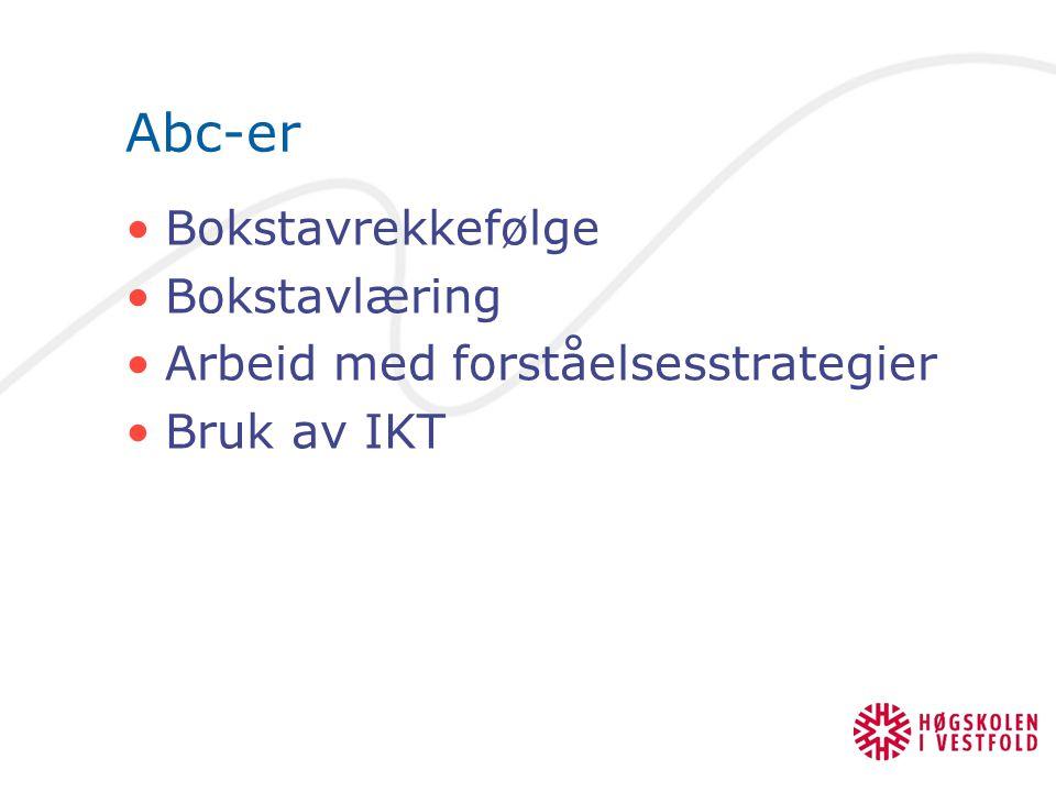 Abc-er Bokstavrekkefølge Bokstavlæring