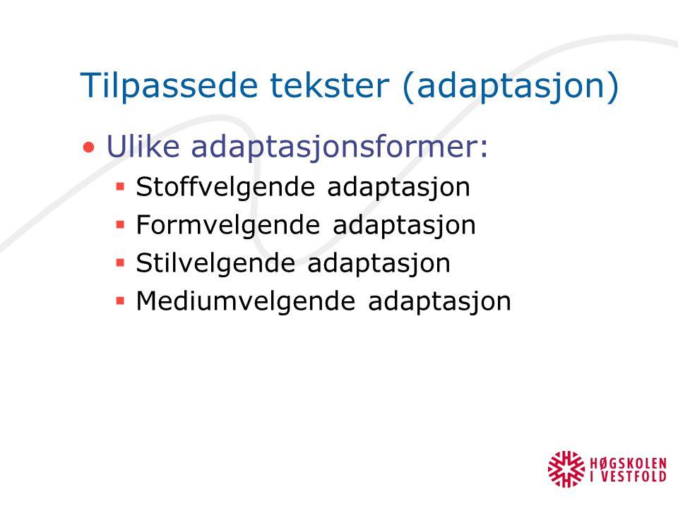 Tilpassede tekster (adaptasjon)