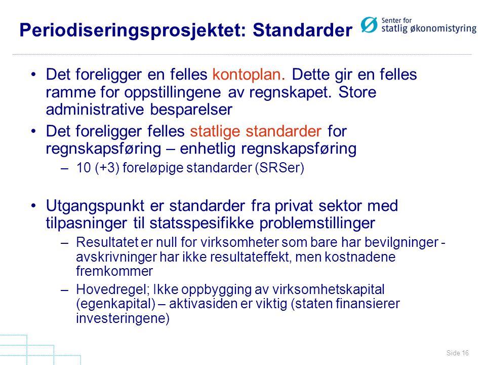 Periodiseringsprosjektet: Standarder