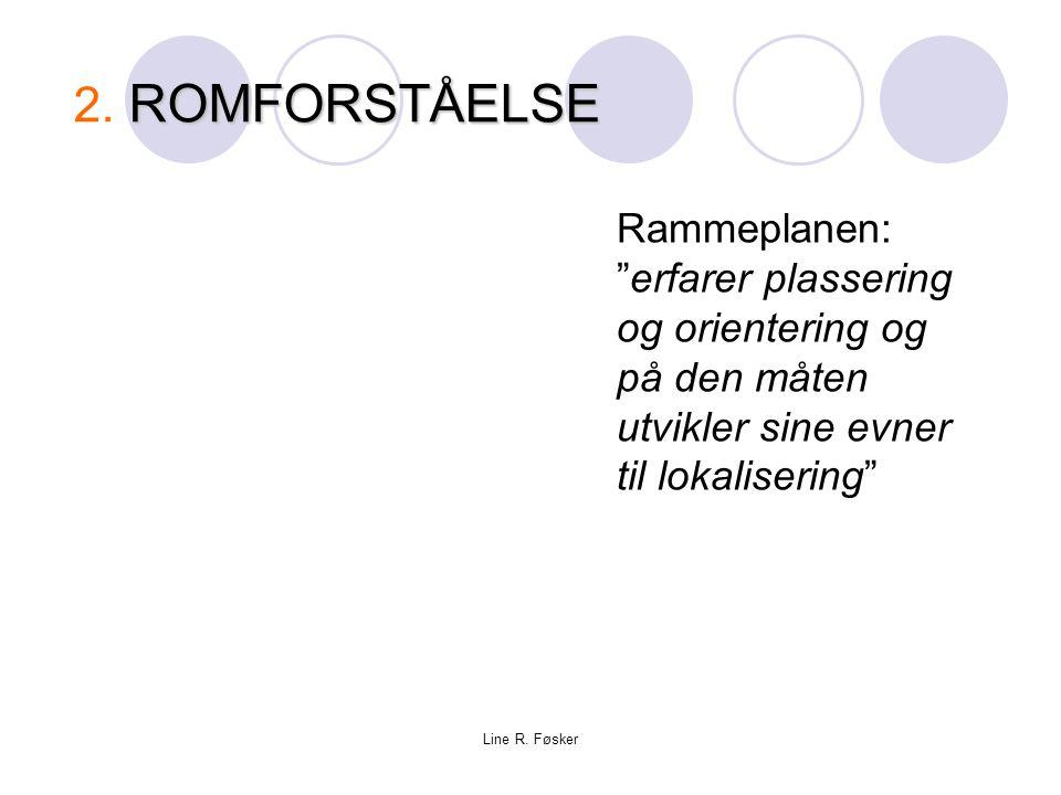 Grimstad 9.mars 09 2. ROMFORSTÅELSE. Rammeplanen: erfarer plassering og orientering og på den måten utvikler sine evner til lokalisering
