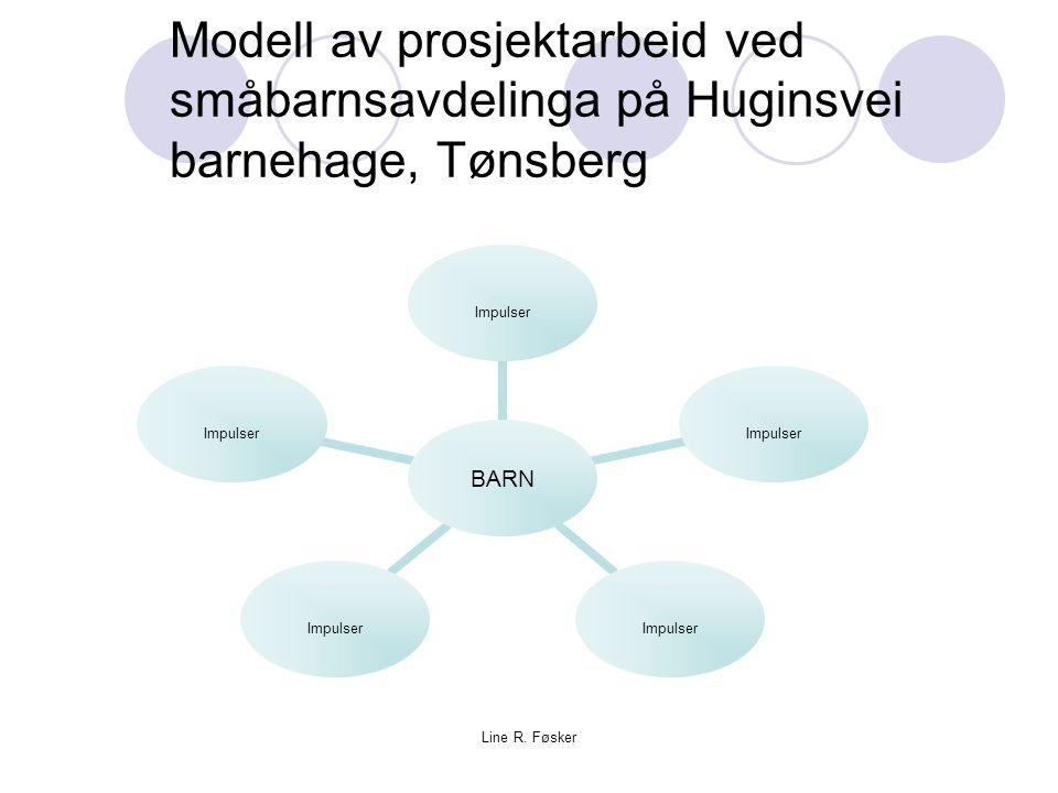 Modell av prosjektarbeid ved småbarnsavdelinga på Huginsvei barnehage, Tønsberg