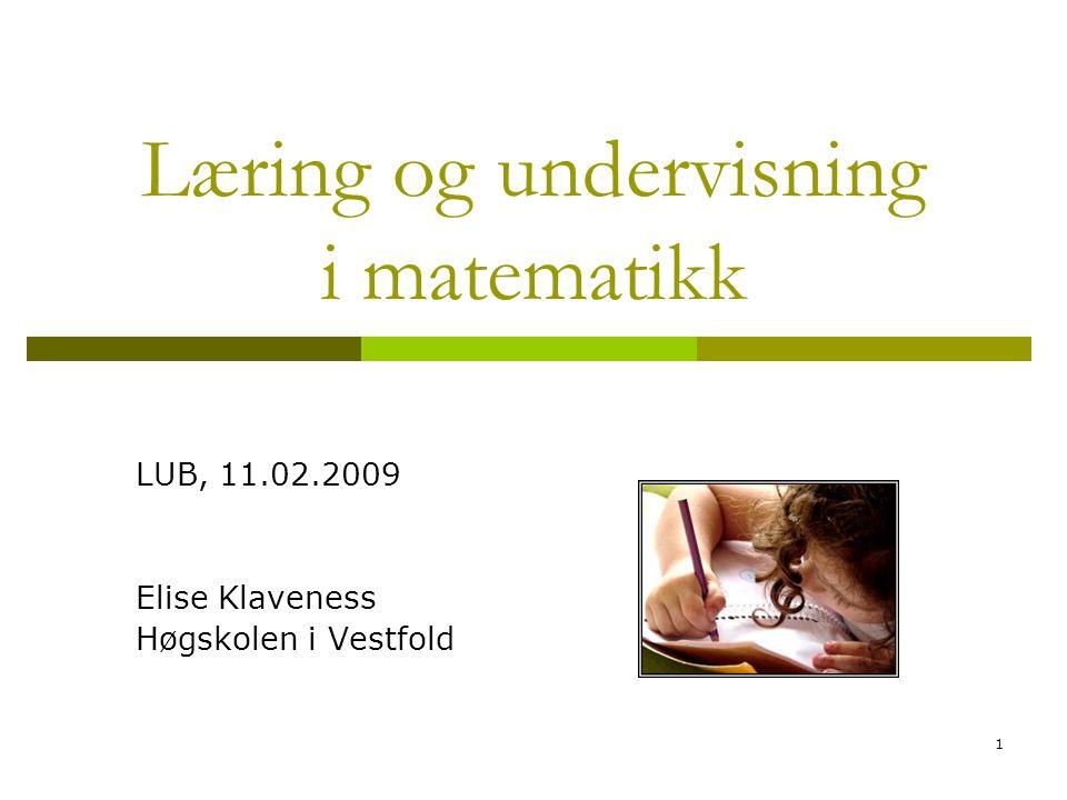 Læring og undervisning i matematikk