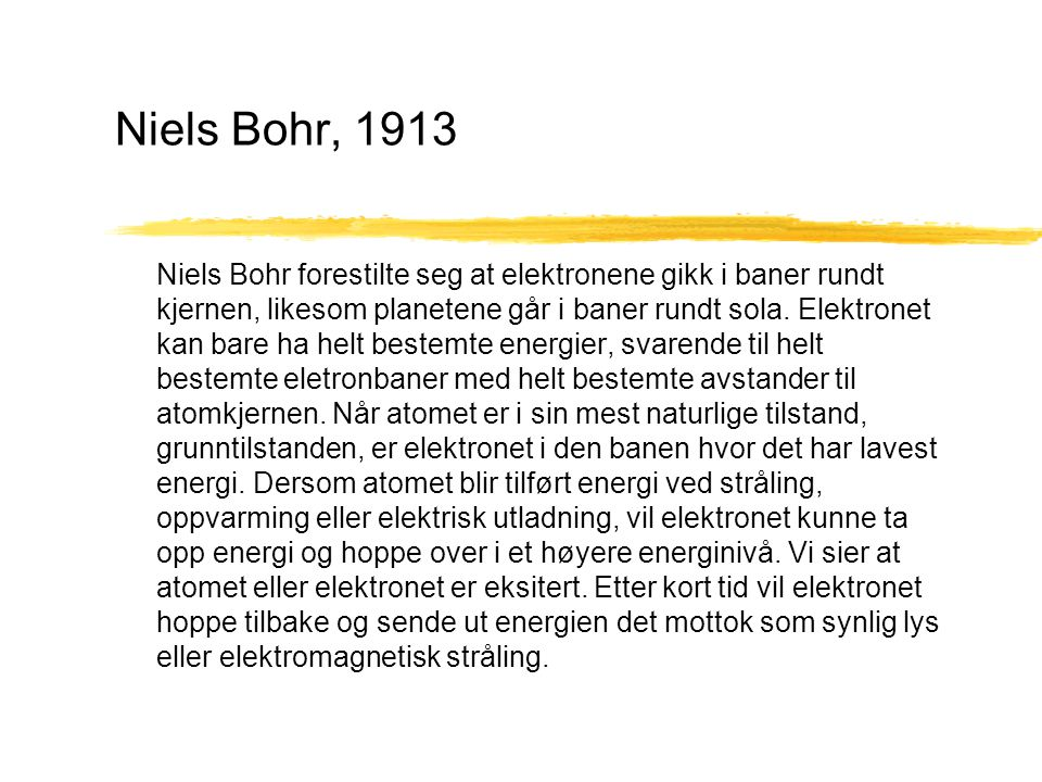 Niels Bohr, 1913