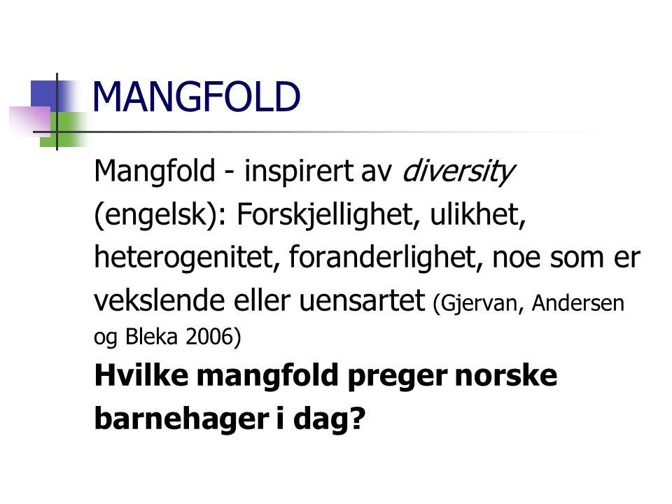 MANGFOLD Mangfold - inspirert av diversity