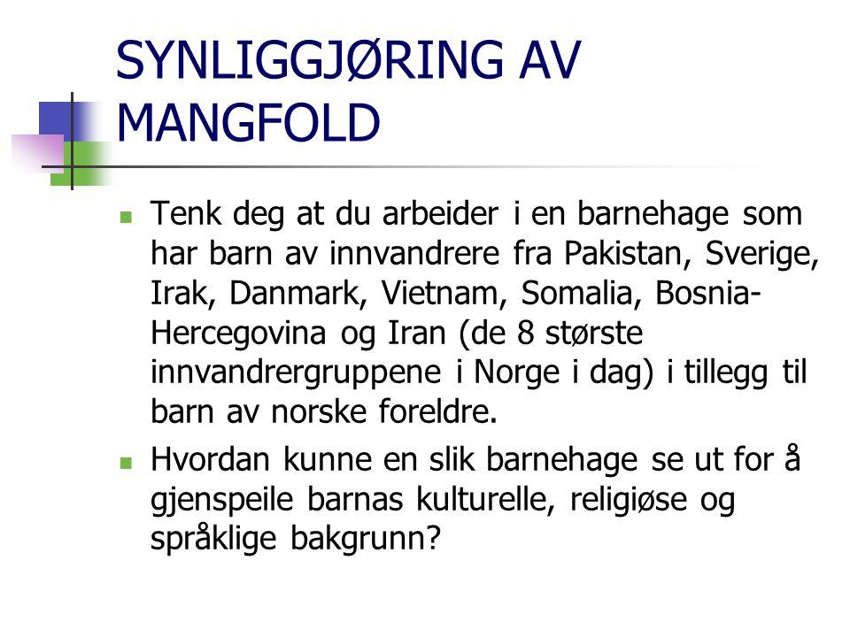 SYNLIGGJØRING AV MANGFOLD